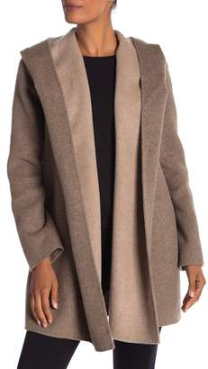 Vince Open Front Hooded Coat