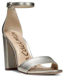 Sam Edelman Yaro Leather Ankle-Strap Pumps