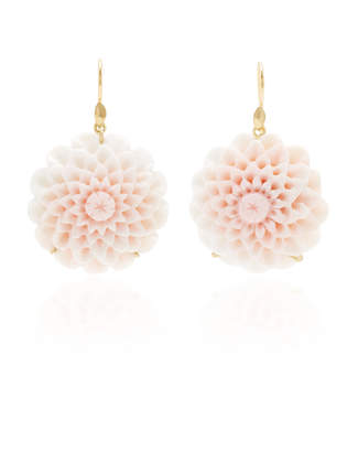 Annette Ferdinandsen Exclusive: Dahlia Blossom Pink Conch Shell Earring