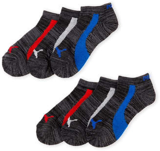 Puma Boys 8-20) 6-Pack Low-Cut Socks