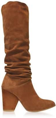 Stuart Weitzman Smashing Amaretto Brown Suede High Heel Boots