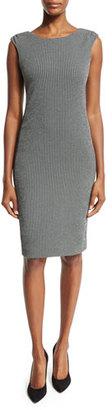 Armani Collezioni Gingham Sleeveless Sheath Dress, Black/White $895 thestylecure.com