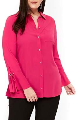 Evans Lace-Up Cuff Shirt