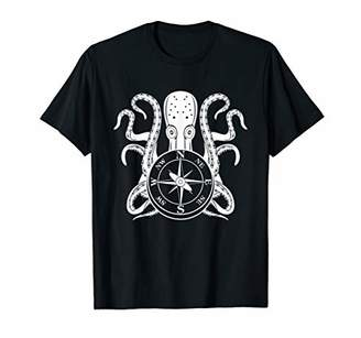 IDEA Nautical Compass Octopus Graphic T-Shirt Gift MM