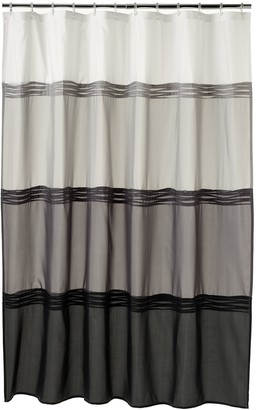 Home Classics Black Pintuck Fabric Shower Curtain