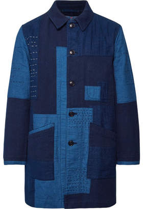Blue Blue Japan Patchwork Sashiko-Stitched Indigo-Dyed Cotton Chore Jacket