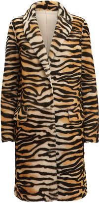 Yves Salomon Tiger Reversible Long Coat