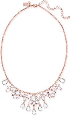 Kate Spade Rose Gold-Tone Crystal Cluster Collar Necklace