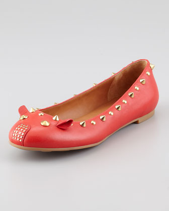Marc by Marc Jacobs Studded Mouse Ballerina Flat, Red