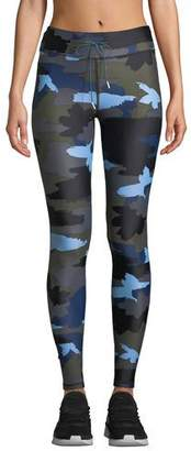The Upside Abstract Camo-Print Drawstring Yoga Pants