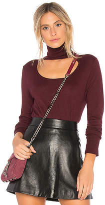 1 STATE Scoop Front Turtleneck Sweater