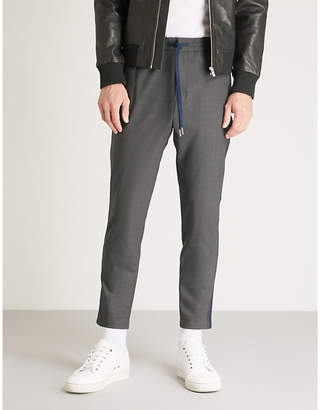 The Kooples Slim-fit tapered stretch-wool trousers