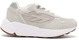 Hi Tec Hts74 Hi-tec Hts74 - Silver Shadow Rgs Suede And Mesh Trainers - Womens - Light Grey