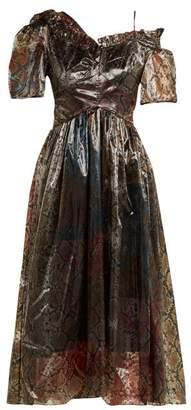 Preen by Thornton Bregazzi Gena Snake Print Organza Dress - Womens - Multi