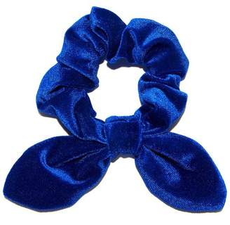Lele Sadoughi Royal Blue Velvet Scrunchie