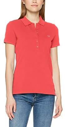 Crew Clothing Women's Classic Polo Shirt, (Sunset Pink/White)