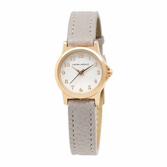 Laura Ashley Petite Band Womens Gray Strap Watch-La31028rg $295 thestylecure.com
