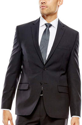 COLLECTION Collection by Michael Strahan Striped Black Suit Jacket - Classic Fit