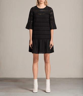 AllSaints Dakota Ruffle Dress