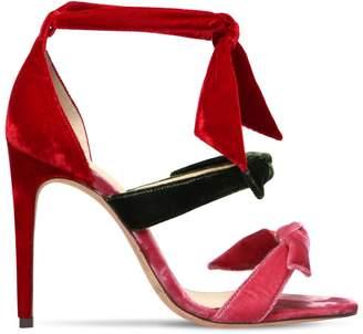 Alexandre Birman 105mm Lolita Velvet Sandals