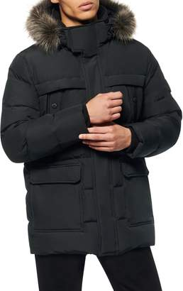 Andrew Marc Pembroke Faux Fur Trim Down & Feather Fill Quilted Coat