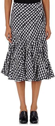 tricot Comme des Garcons Women's Gingham Seersucker Knee-Length Skirt $970 thestylecure.com