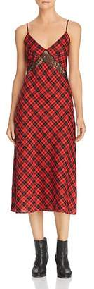 DAY Birger et Mikkelsen Divine Heritage Plaid & Lace Slip Dress