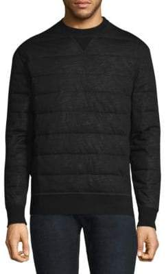 Moncler Wool Quilted Down Sweatshirt
