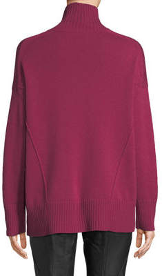 Lafayette 148 New York Oversized Turtleneck Cashmere Sweater