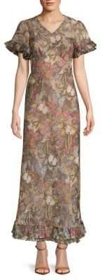 Valentino Butterfly-Print Maxi Dress