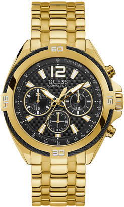GUESS Men Chronograph Surge Gold-Tone Stainless Steel Bracelet Watch 46.5mm