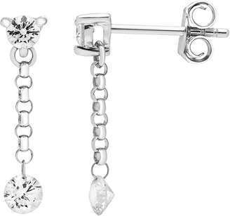 Boston Bay Diamonds 14k White Gold 1 Carat T.W. Diamond Linear Earrings
