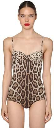 Dolce & Gabbana Leopard Jersey Bathing Suit