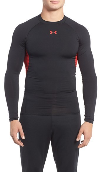 Men's Under Armour Heatgear Compression Fit Long Sleeve T-Shirt