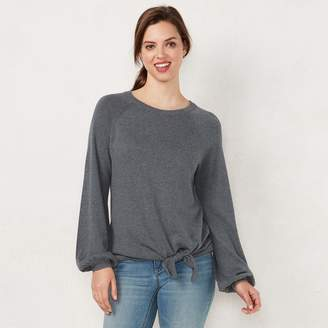 Lauren Conrad Women's Tie-Front Sweater
