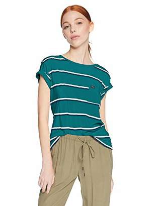 RVCA Junior's Big Stripe Short Sleeve Pocket TEE