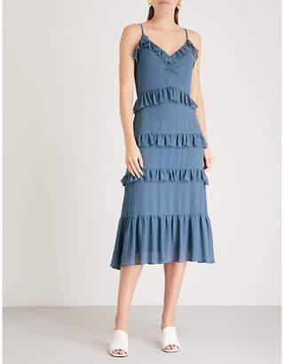 MICHAEL Michael Kors Ruffle-detail chiffon dress