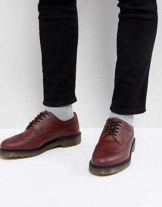 Dr. Martens 3989 Brogues In Cherry Red