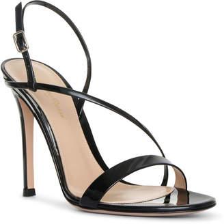 Gianvito Rossi Manhattan 105 patent black leather sandals