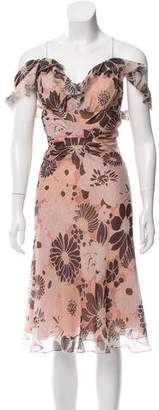 J. Mendel Floral Chiffon Dress