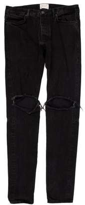 Fear Of God Distressed Zip-Accented Skinny Jeans