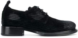 Ann Demeulemeester corduroy lace-up shoes