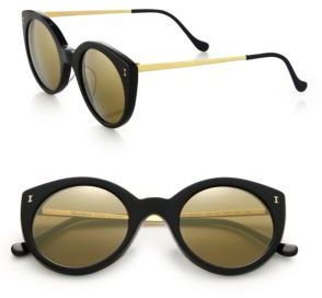 Illesteva Palm Beach 49MM Cat Eye Sunglasses $240 thestylecure.com
