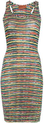 Missoni Mare multicolour racer back mini dress