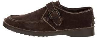 Tod's Suede Monk Strap Shoes brown Suede Monk Strap Shoes