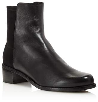 Stuart Weitzman Women's Easyon Reserve Leather & Neoprene Block-Heel Booties