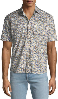 Culturata Men's Tropical Print Shirt