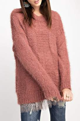 Easel Comfy Mohair Sweater