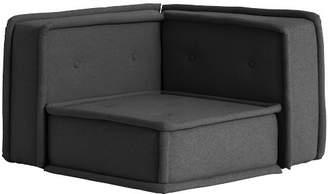 Pottery Barn Teen Cushy Lounge Corner Chair, Tweed Charcoal, QS EXEL