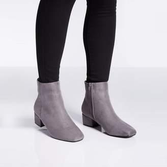 9cfd61cdbcb0 at Debenhams · Quiz - Wide Fit Block Heel Ankle Boots